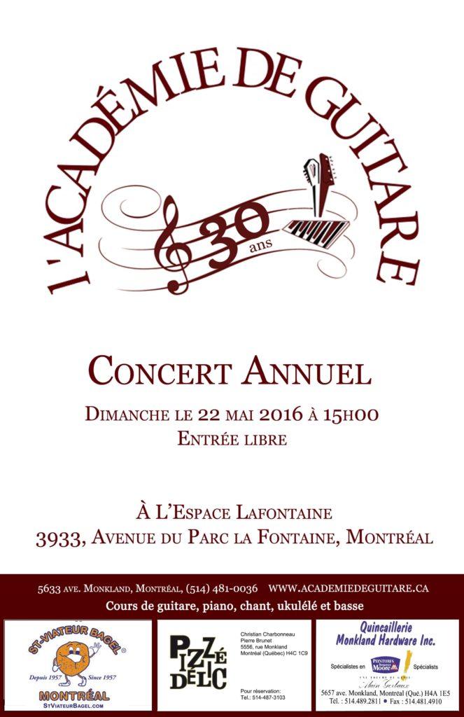 Concert des élèves - 22 mai 2016