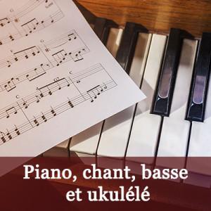 Cours de piano, chant, basse et ukulélé à l'Académie de guitare